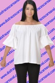 blusa blanca mujer campesina