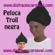 peluca troll negra