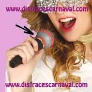 micrófono de plástico para disfraz