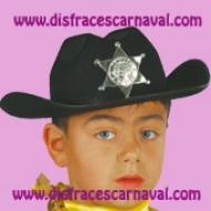 sombrero vaquero negro infantil sheriff