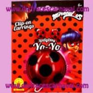 pendientes y yo-yo ladybug