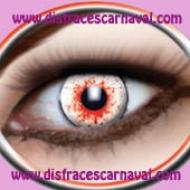 lentillas ojos ensangrentados