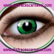lentillas reptil verdes