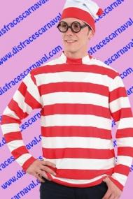 camiseta y gorro buscando a wally