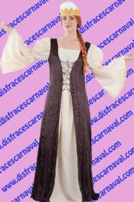 disfraz dama medieval
