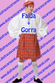 falda escoces y gorra