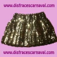 minifalda lentejuelas oro