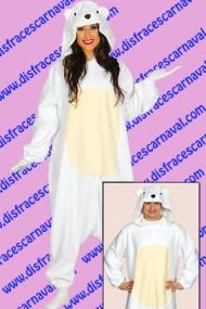 disfraz oso polar pijama