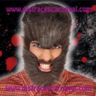 hombre lobo pelo cara