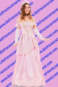 disfraz princesa rosa adulto