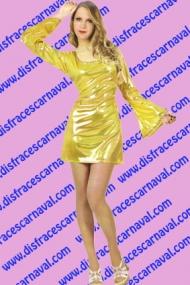 vestido burbuja dorado