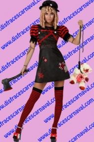 disfraz muñeca de trapo halloween