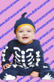 disfraz esqueleto bebe halloween