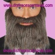 Barba postiza gris