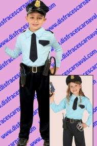 disfraz policia niño