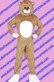 disfraz leopardo mascota