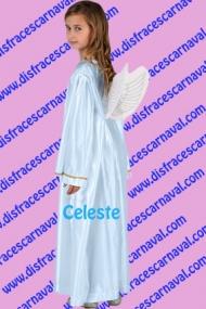 disfraz angel azul