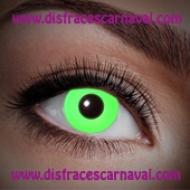 lentillas verdes uv luz ultravioleta