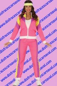 disfraz chandal rosa años 80