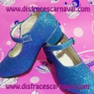 zapatos princesa tacon azul