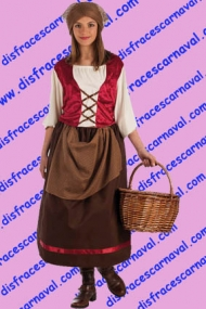 disfraz campesina medieval