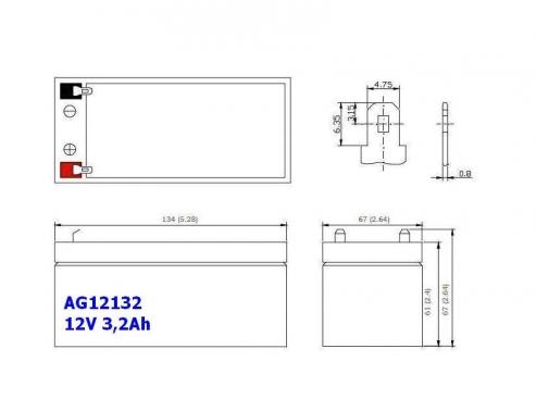 BATERIA AGM AG12133