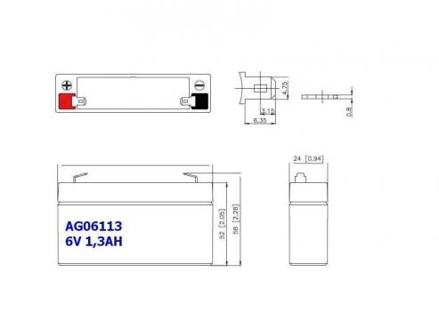 BATERIA AGM AG06113