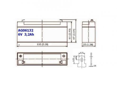 BATERIA AGM AG06132