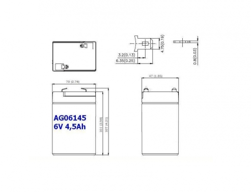 BATERIA AGM AG06145