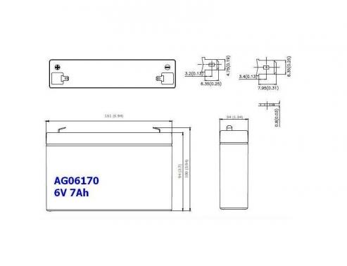 BATERIA AGM AG06170