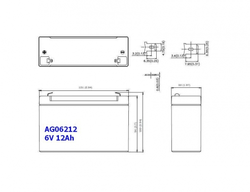 BATERIA AGM AG06212