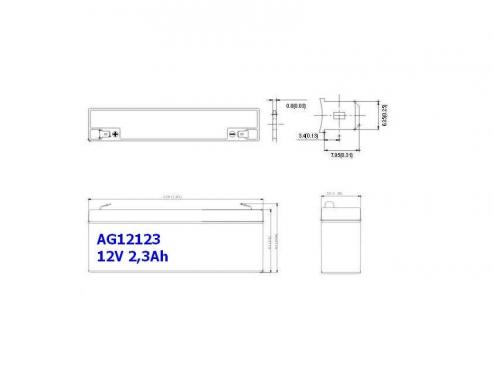 BATERIA AGM AG12123