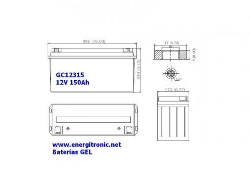 BATERIA GEL GC12315