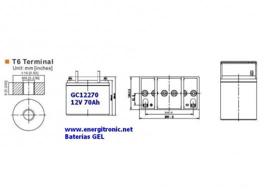 BATERIA GEL GC12270
