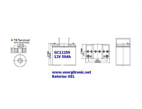 BATERIA GEL GC12250