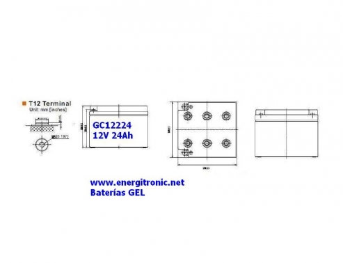 BATERIA GEL GC12224