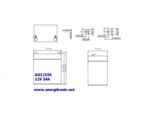 BATERIA AGM AG12150