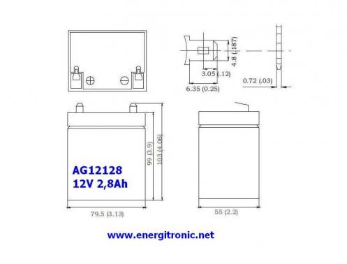 BATERIA AGM AG12129