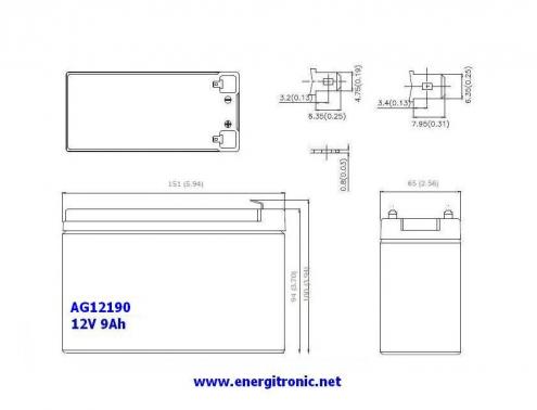 BATERIA AGM AG12190