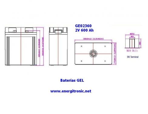 BATERIA GEL ESTACIONARIA GE02360