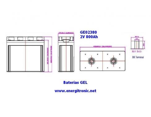 BATERIA GEL ESTACIONARIA GE02380