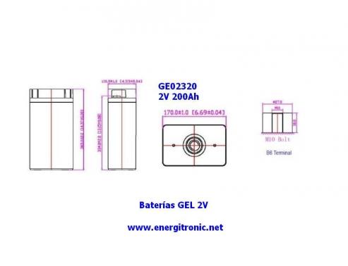 BATERIA GEL ESTACIONARIA GE02320