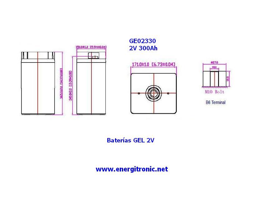 BATERIA GEL ESTACIONARIA GE02330