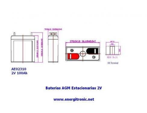 BATERIA AGM ESTACIONARIA AE02310