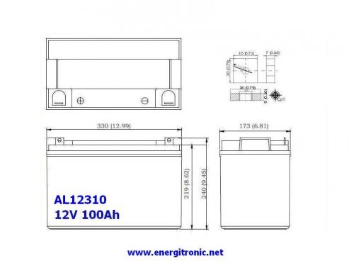 BATERIA AGM AL12310