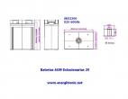 BATERIA AGM ESTACIONARIA AE02360