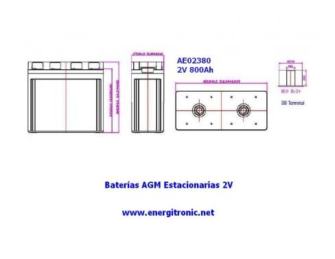 BATERIA AGM ESTACIONARIA AE02380