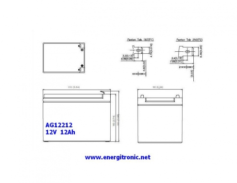 BATERIA AGM AG12212