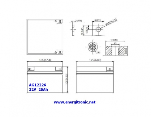 BATERIA AGM AG12226