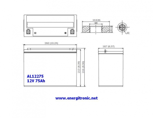 BATERIA AGM AL12275
